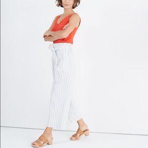 Madewell Tie-Waist Huston Pull-On Crop Pants